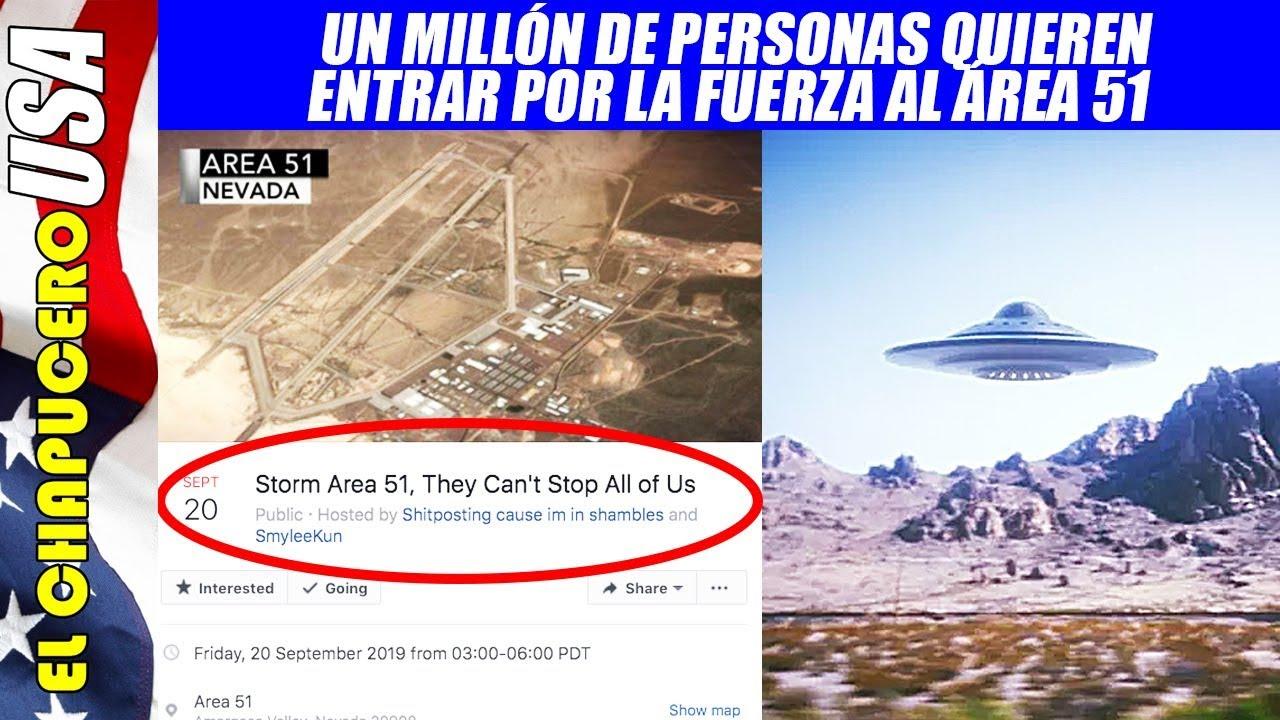 Un millón de personas pretenden invadir el Área 51. ¡Ejército de EU se prepara para repelerlos!