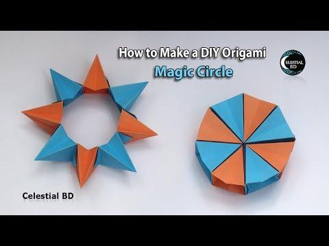 Origami Magic Circle || How to Make an Easy Origami Magic Circle || Magic Circle