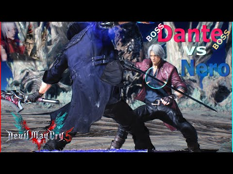 Devil May Cry 5 - Nero Vs DANTE BOSS BATTLE MOD (Mission 21😀😀ha Ha)