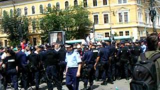 miting al fermierilor stins cu bastoane şi gaze lacrimogene Cluj