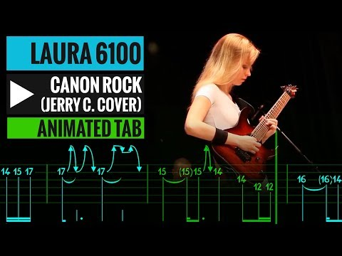 Canon Rock Tab - Jerry C cover by Laura - Guitar Lesson - How to play
