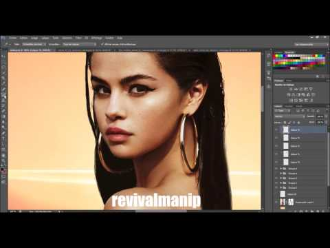Selena Gomez Vogue Magazine (Photoshop speed manip)