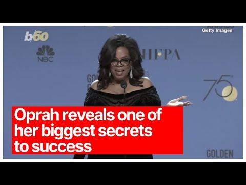 Oprah reveals one of her biggest secrets to success