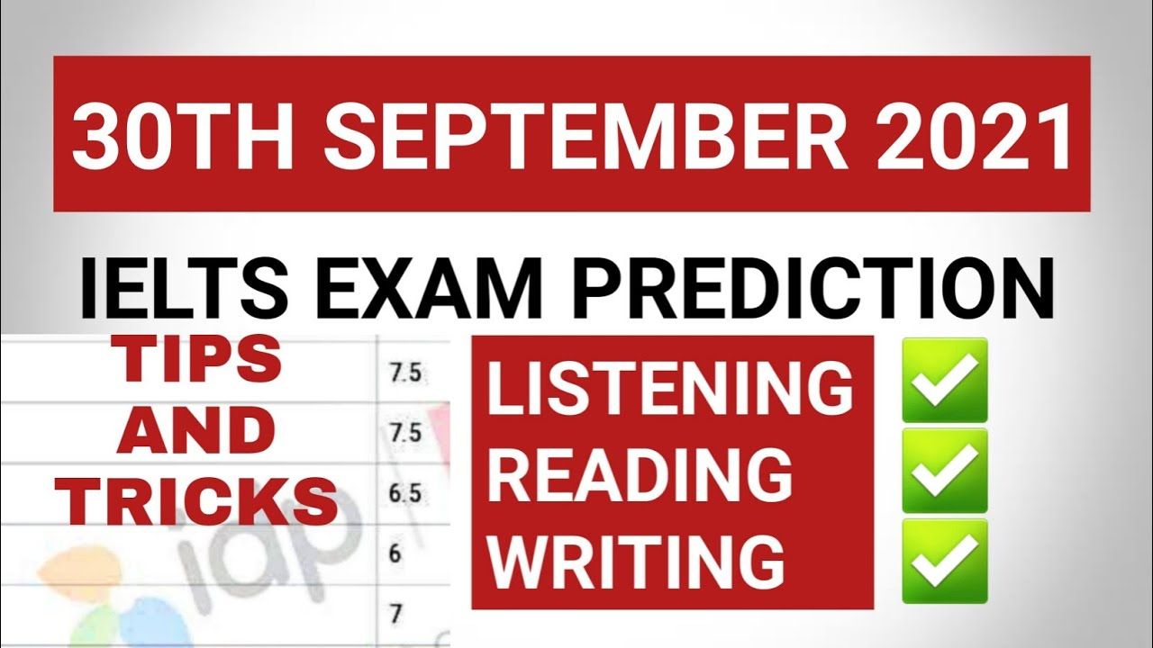 30 September ielts exam prediction | 9 October ielts prediction soon | 14 October ielts prediction s