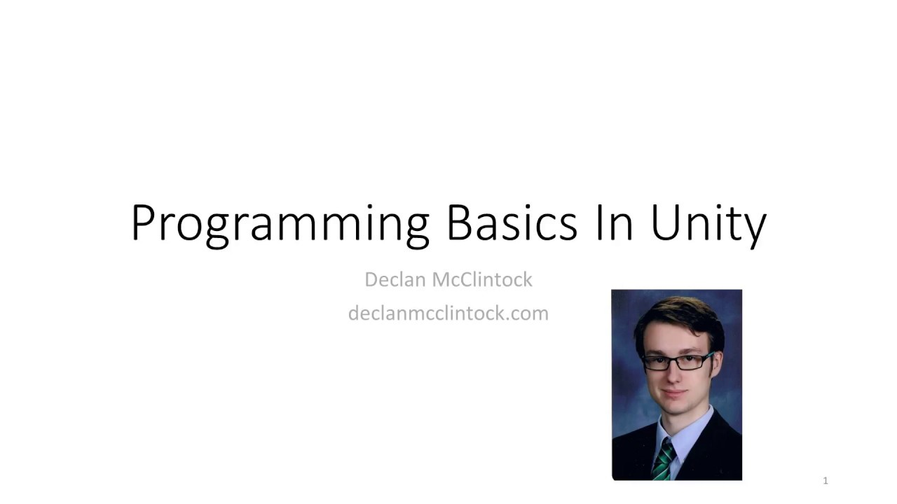 Programming Basics In Unity