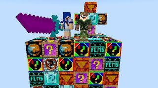 TODOS OS LUCKY BLOCKS l MINECRAFT ILHA LUCKY BLOCK