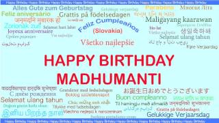 Madhumanti   Languages Idiomas - Happy Birthday