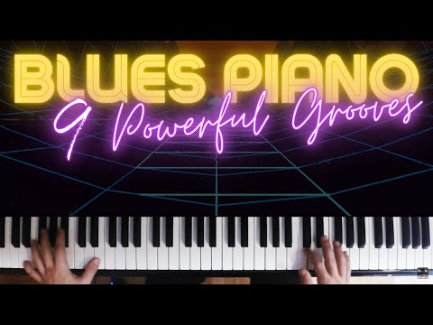 9 Ways to Play Bluesy Left Hand Grooves │ Blues Piano Lesson #7