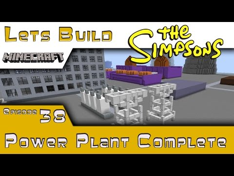 Minecraft :: Springfield Lets Build :: Power Plant Complete :: E38