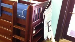 Maxtrix Box 2 Low Loft W/ Built-in Dress & Bookshelf From Pippin Mcgee