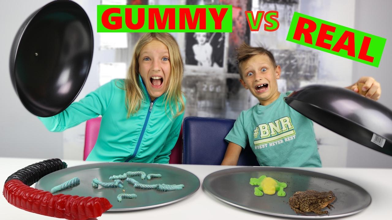 GUMMY Vs REAL YouTube