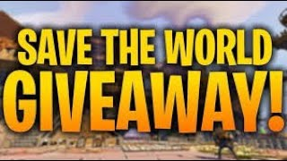 Giveaway Friday !!!!! (Save the world Fortnite Live)starts at 620 subs(Nature Jacko/Rare weapons)