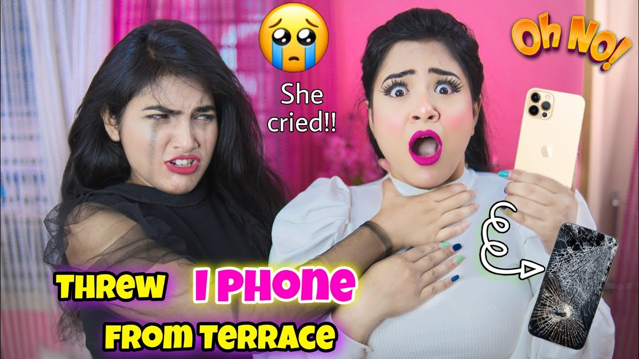 New *iPhone* Breaking Prank on My Sister *GONE WRONG* Threw iPhone From Terrace | Nilanjana Dhar