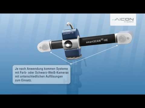 3D Scanning mit AICON Scannern - Demonstration des Scanvorgangs