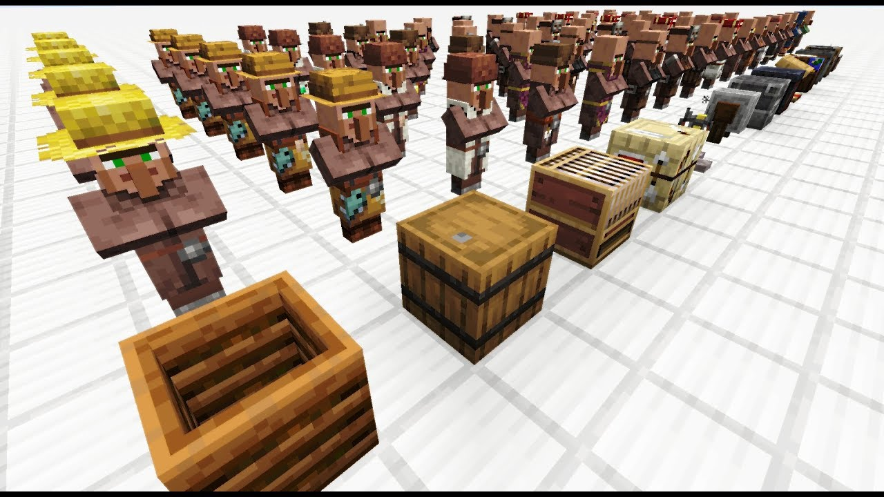 All New Villager Trades 1 14 1 16 2 Minecraft Youtube