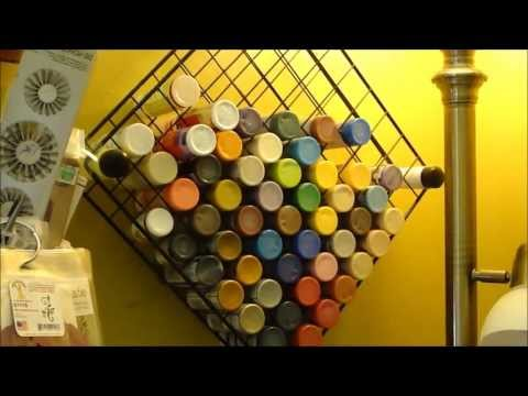Metal paint storage...