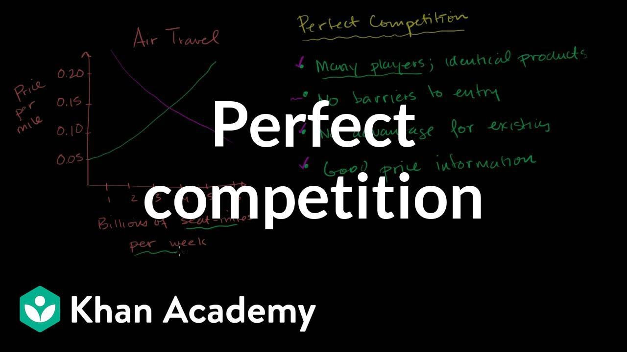 Perfect competition | Forms of competition | Microeconomics | Khan Academy