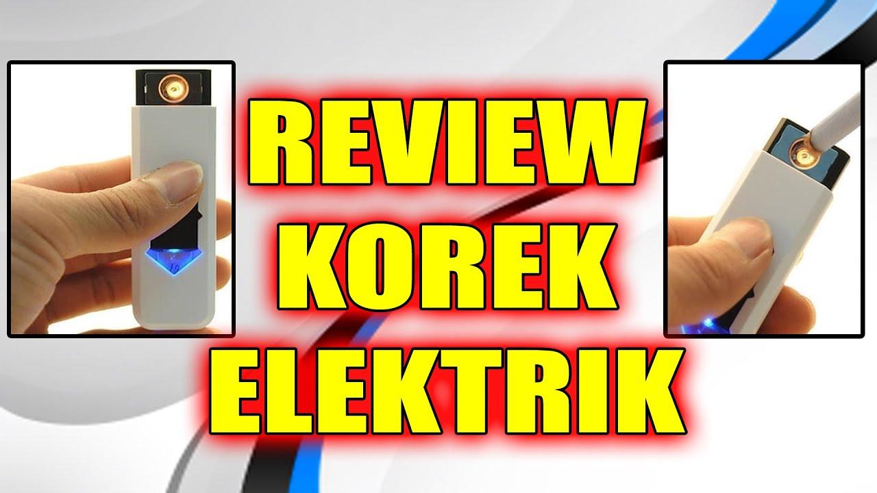Review Korek Api Elektrik USB - YouTube