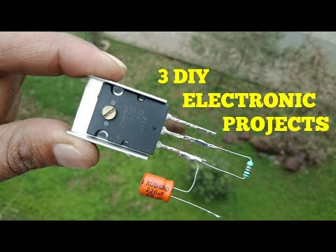 Verrassend 3 DIY ELECTRONIC PROJECTS - YouTube NW-79