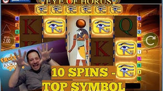 Eye Of Horus BIG WIN!! Top Symbol with 10 Free Spins! 👁