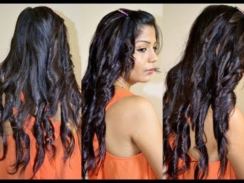 How To Curl Long Hair With Straightener Easy Hairsyle
