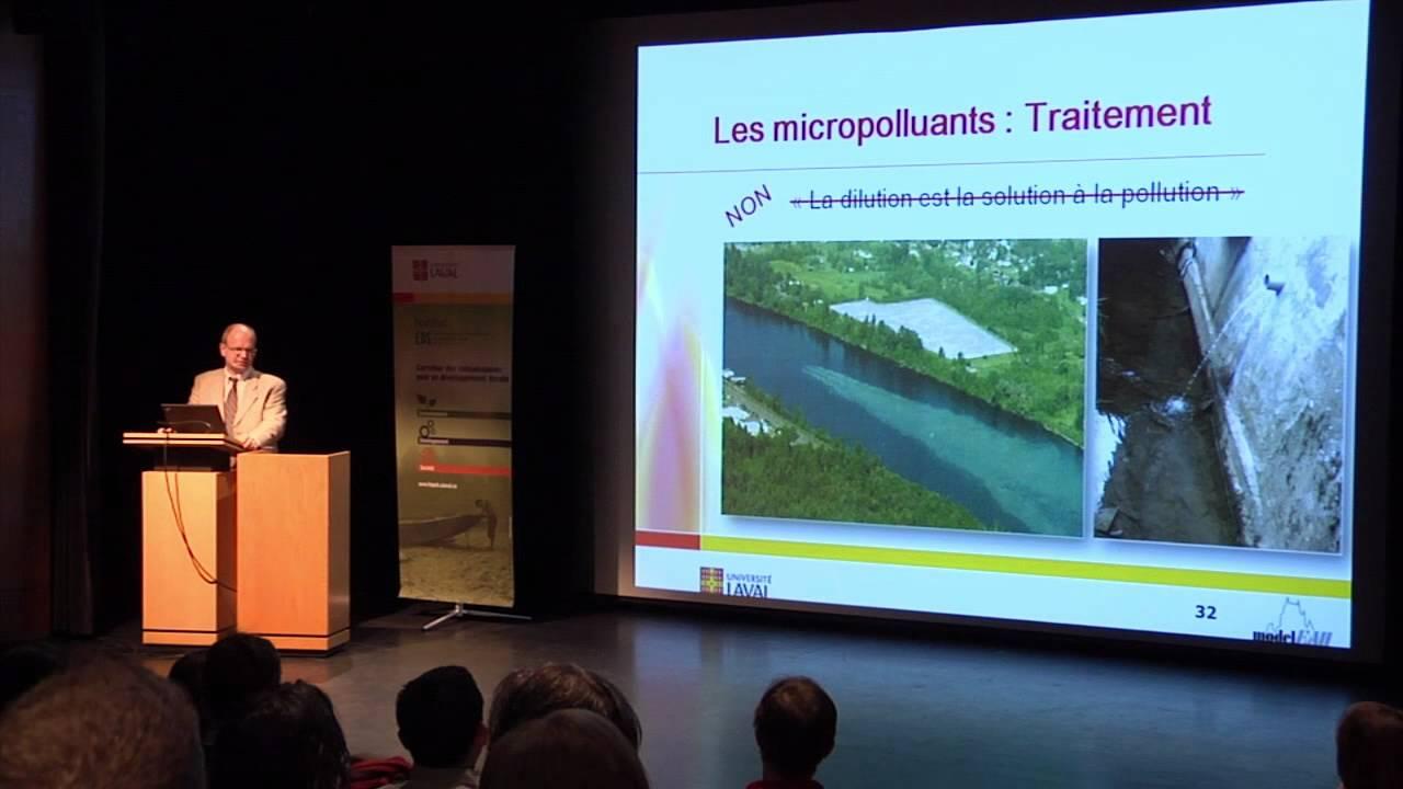 Peter Vanrolleghem - Des micropolluants dans votre verre d'eau ? (2/4)