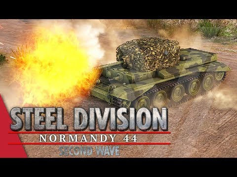 Guards On The Left! Steel Division: Normandy 44 Gameplay (Sainte-Mère-Église, 4v4)