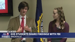 EHS students present findings to FBI