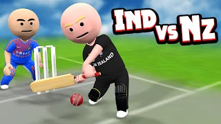 3D ANIM COMEDY - CRICKET || INDIA VS NEWZEALAND || LAST OVER