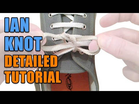 Ian Knot detailed tutorial - Professor Shoelace
