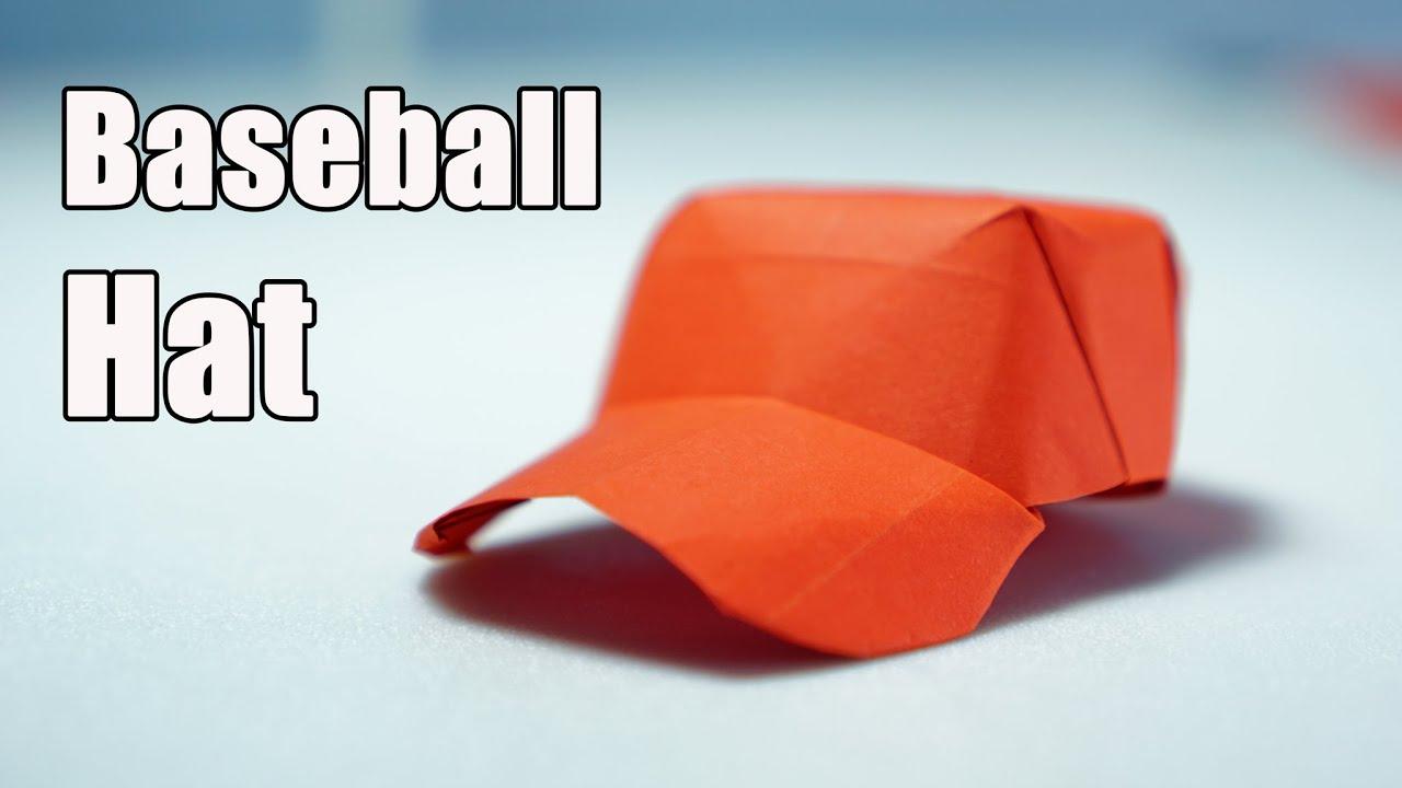 Paper Cap Origami Baseball Cap Tutorial Diy Henry