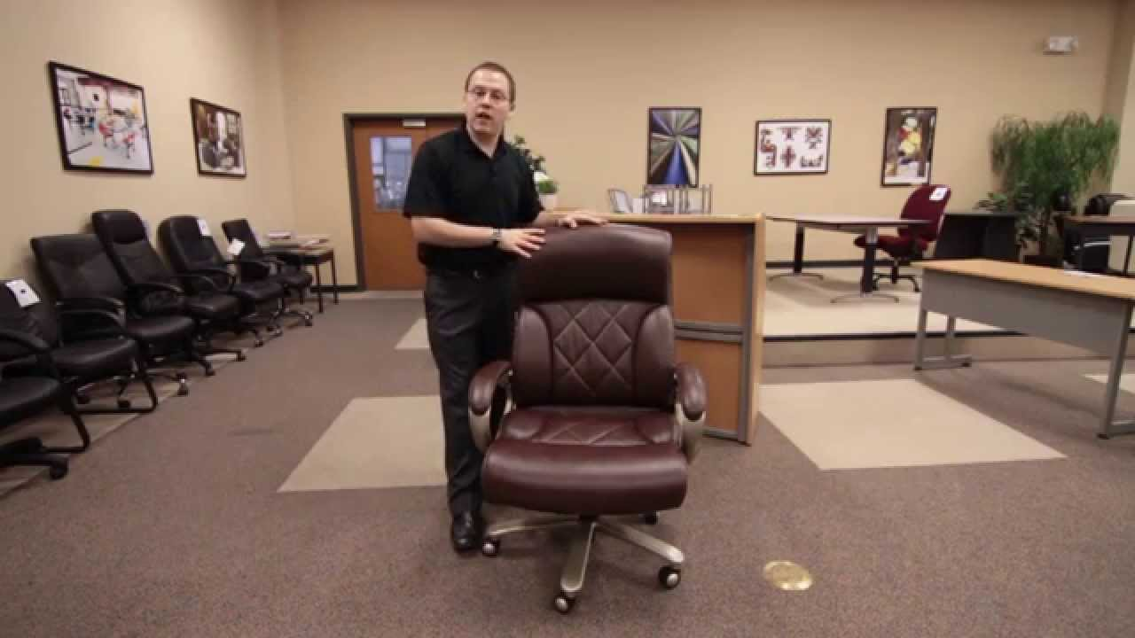big mans chair how to make a dining room cover ofm presents the model 812 lx tall leather executive youtube