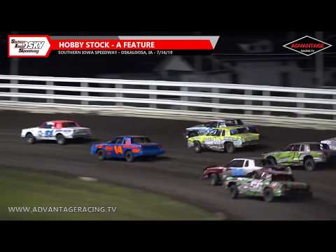 Hobby Stock Heats/Feature - Southern Iowa Speedway - 7/16/19