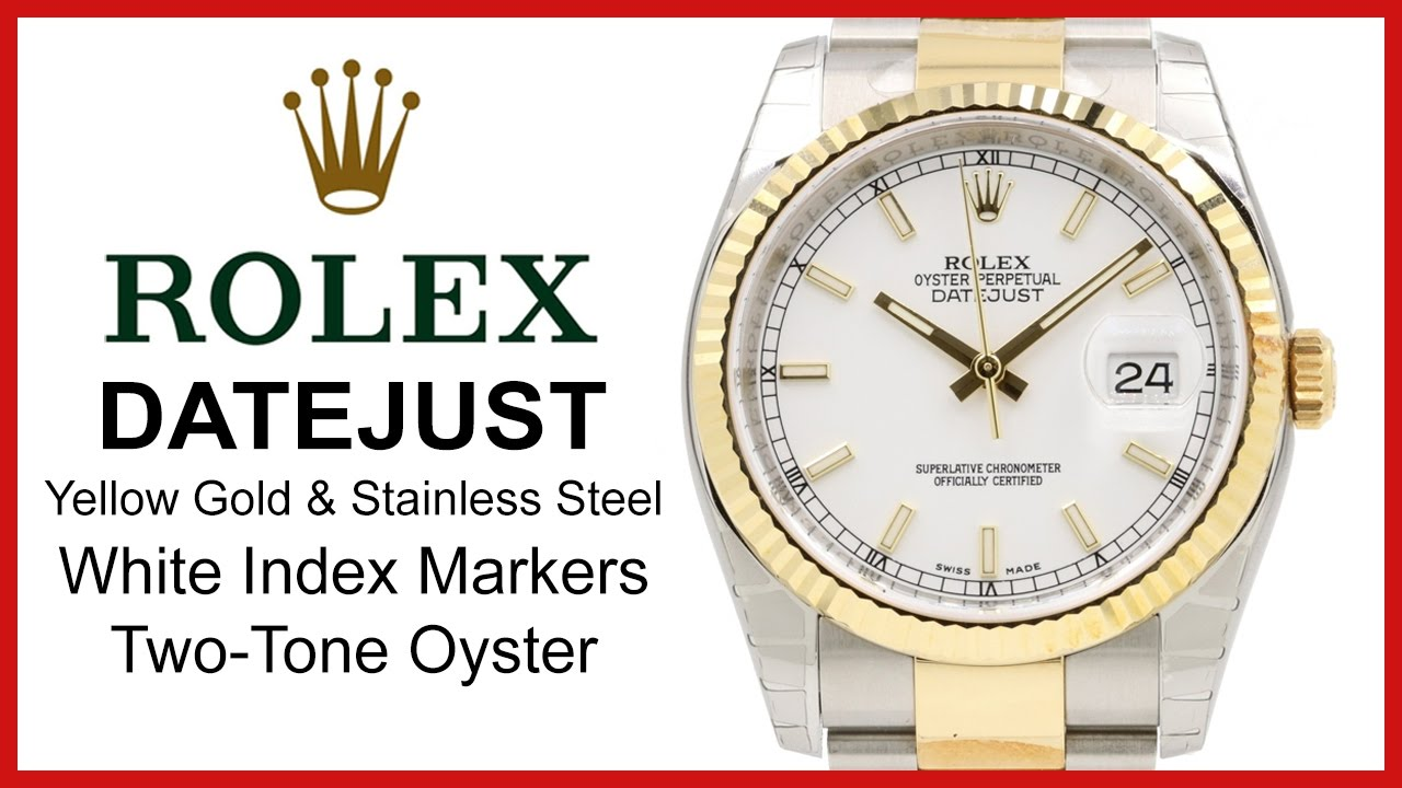 a82fa2178ad Rolex Datejust 36 REVIEW: White Index Dial, TwoTone Yellow Gold, Fluted  Bezel, 116233