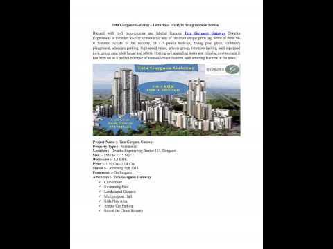 Tata Gurgaon Gateway - A hot Luxury home in Sector 113 Gurgaon