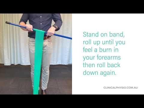 Tennis Elbow - Stick roll ups