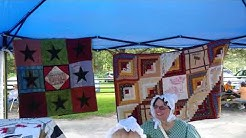QUILTERS AT ALLAIRE VILLAGE CAR SHOW