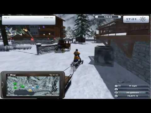 Let's Play Ski Region Simulator 2012 Part 2 Gameplay - Buying Snowmobiles