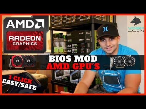 How To Bios Mod AMD GPU's For Mining EZ Rx580/570/560/550/480/470/460 4gb + 8gb
