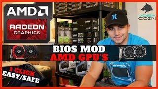 How To Bios Mod AMD GPU's for Mining EZ Rx580/570/560/550/480/470/460 4gb + 8gb
