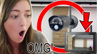 WE HAD AN INTRUDER IN OUR GARAGE! (CAUGHT ON CAMERA!)