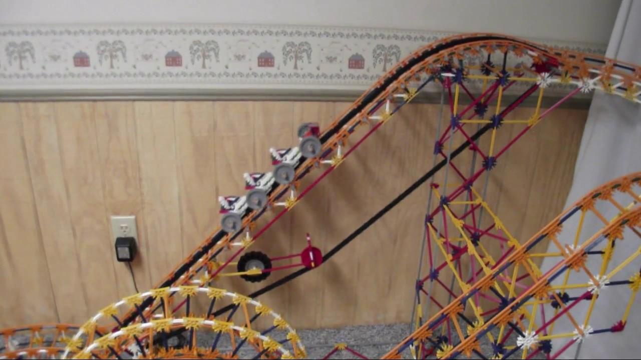 Improved Original Knex Roller Coaster Youtube