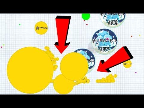 Agar.io Solo vs HACKER Auto Click Hack Team CRAZY MODS Agario Best Moments