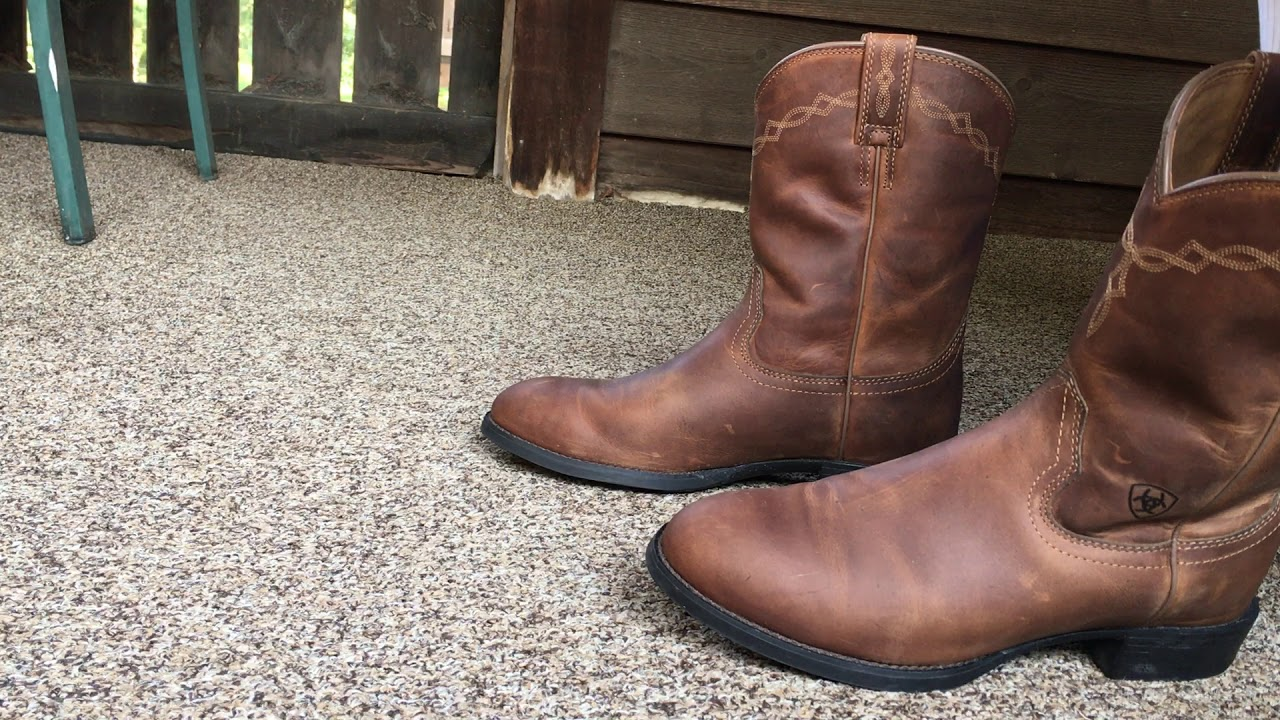 47b6d3e5f680e6 Ariat Mens Heritage Roper Western Cowboy Boot - YouTube