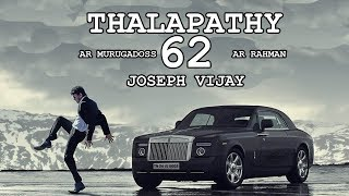 Thalapathy 62 Official First Look Poster On | Vijay Keerthy Suresh | AR Rahman | AR Murugadoss