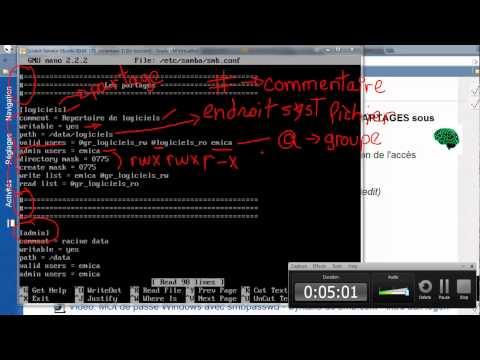 14-LInux-Introduction à SAMBA - smbpasswd, smb.conf et logon.cmd