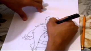 Drawing and Coloring to Sam Bigotes/ Dibujando a Sam Bigotes