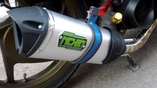 NOB1 Neo SS Dual Sound Exhaust + Tsukigi Pipe on Honda Spacy Fi