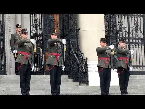 Changing of the Guard at the Budapest Parliament