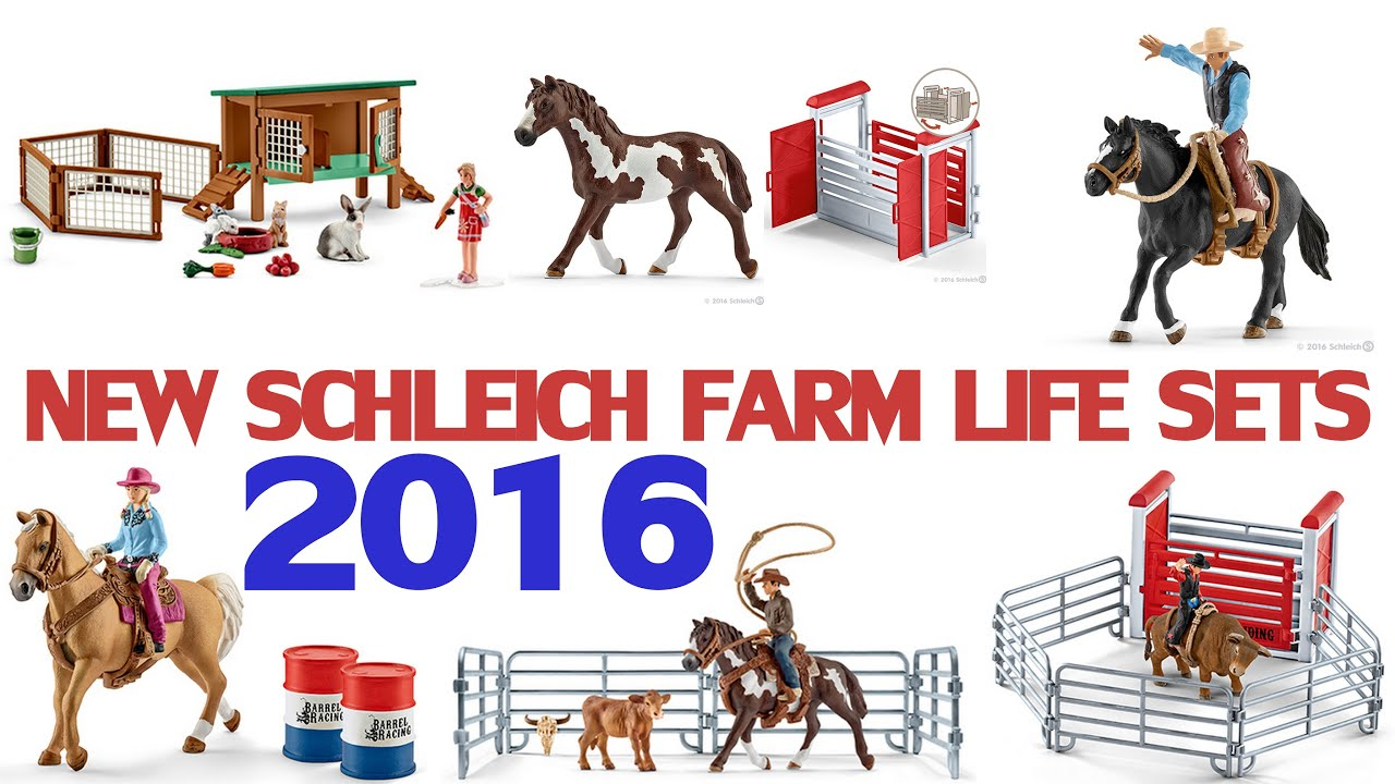 More new schleich horses and farm life sets 2016 for Playmobil pferde set